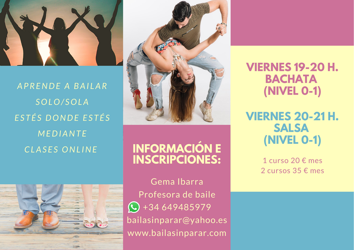 CLASES ONLINE BACHATA SALSA