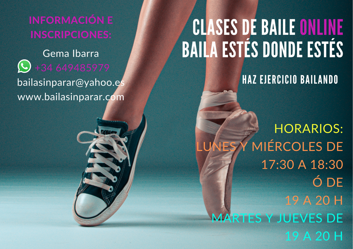 Clases baile deportivo online Octubre 2020